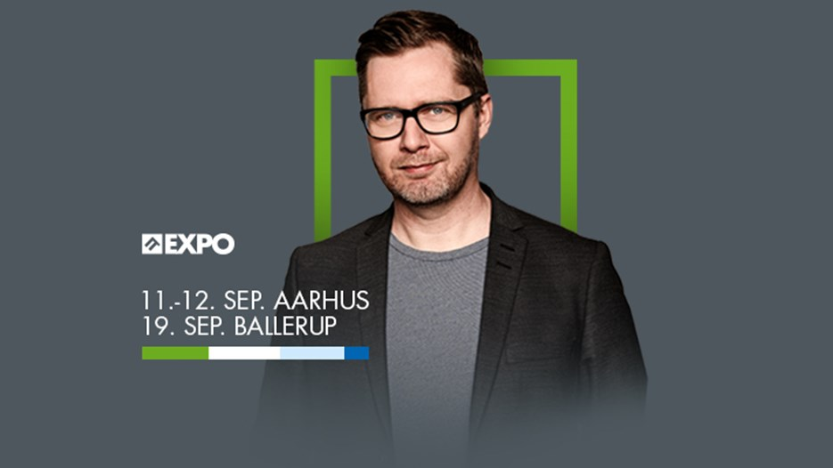 Lasse Rimer underholder på IT EXPO 2018